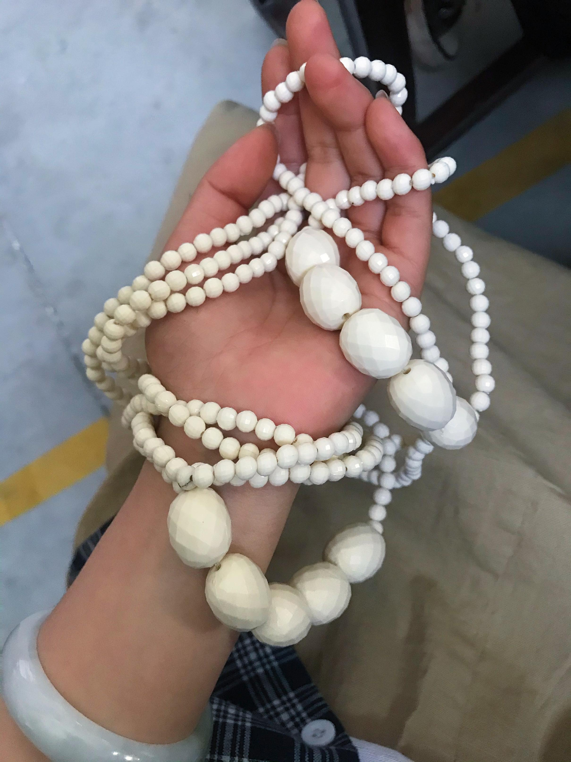 长毛衣链项链