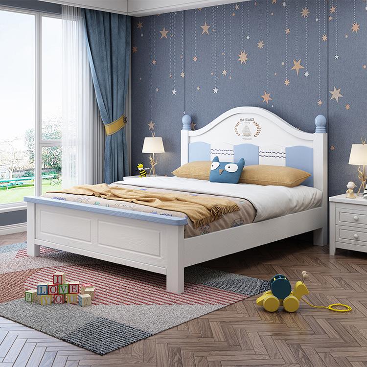 实木压纹儿童床