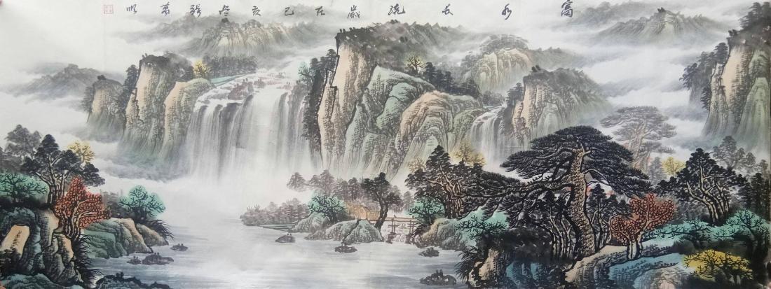 名家张万顺国画山水字画小六尺作品