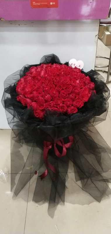 8.25七夕情人节33红玫瑰生日鲜花花束全国包邮