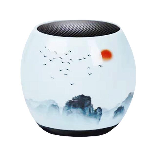 悦无双原创鼓型国潮艺术小音响1盒(2个/盒))